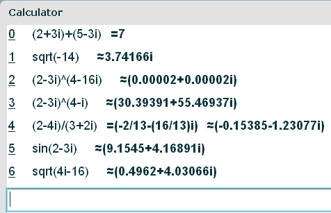 Complex Numbers Calculator (The Square Root of -1 is not NaN ...